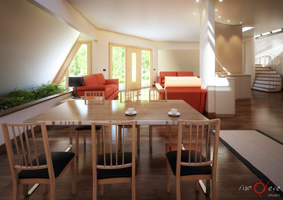Rendering interni abitazione tyronset fisheye studio for Interni abitazioni
