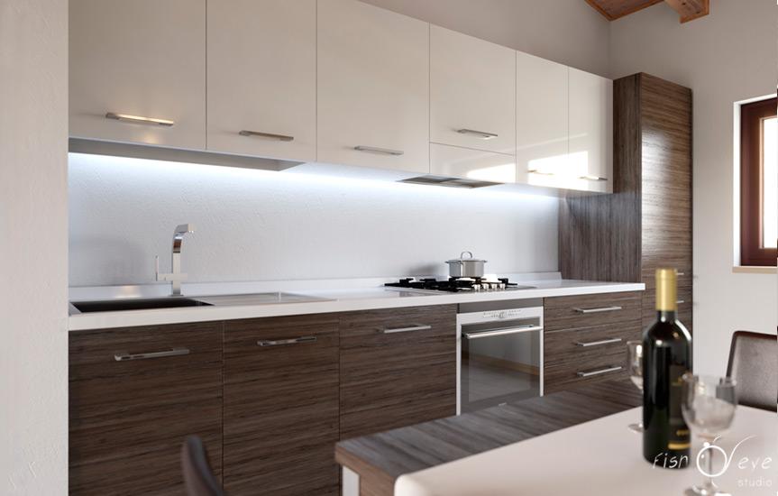render cucina appartamento