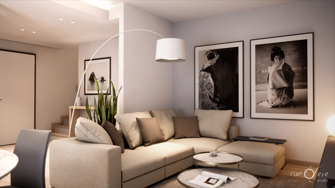 interior rendering unreal engine 4 vr house in Treviso - Italy 03