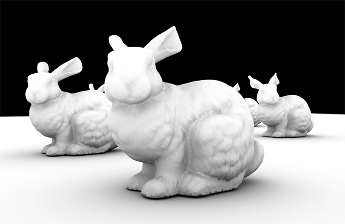 image of rabbits for render proxy and ambient occlusion bug correction illustration