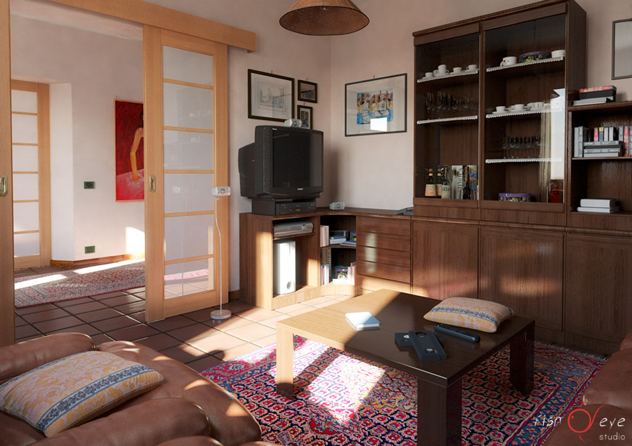 Rendering soggiorno - Fisheye Studio